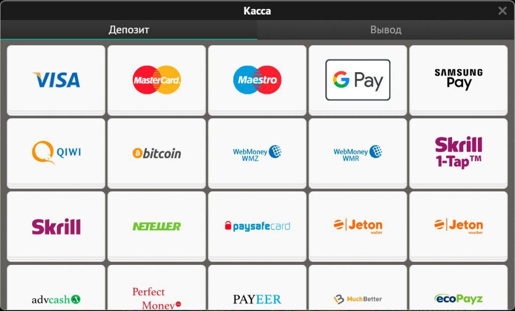 Все платежные сервисы PinUp.
